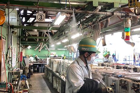 リサイクル中間処理工場